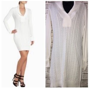 BCBG Max Ivory Gardenia Sweater Dress, Sz. L